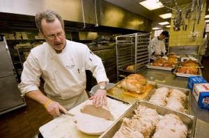 "Ken Grogg, St. Thomas' new executive chef, plans some big changes in the university's cuisine. ""I want the University of St. Thomas... to be the hidden gem among university dining services,"" Grogg said. (Aaron Hays/TommieMedia)"