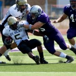 St. Thomas pulled away from St. Olaf in the second half to move to 2-0.  (Josh Kleven)