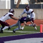 Fritz Waldvogel and the Tommies ran all over Augsburg in the 42-3 win. (John Kruger)