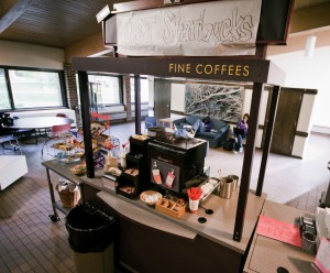 Rockey Grounds was replaced by a coffee cart run by St. Thomas student workers. (Tommy Ellis/TommieMedia)