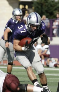Colin Tobin rushed for 114 yards and two scores against Augsburg. (John Kruger/TommieMedia)