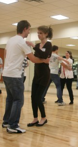 <p>Students practice their dance moves during the J-term Latin dance class. (Nathan Spencer/TommieMedia)</p>