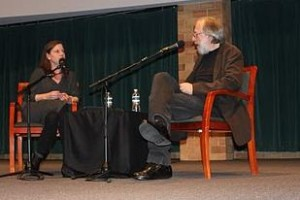 Film critic Kenneth Turan and MPR's Stephanie Curtis discussed the future of theaters, among other topics, at Thursday's discussion. (Alex Keil/TommieMedia)