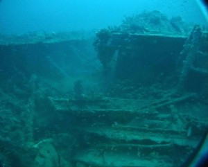 <p>Wreckage of the Civil War ironclad ship Monitor. Sonar could provide even clearer, more vivid images of such historic shipwrecks. (NOAA PHOTO)</p>