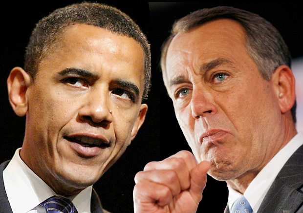 President Barack Obama and House Speaker John Boehner are the public faces of a government that is divided and dysfunctional. (TommieMedia photo illustration)