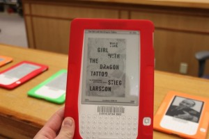 <p>The Kindles have been checked out 243 times since being brought into the library. (Tom Graves/TommieMedia)</p>