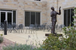 The McNeely Hall Patio is one location St. Thomas would be able to sell alcohol during the first year of holding its liquor license. (Briggs LeSavage/TommieMedia)