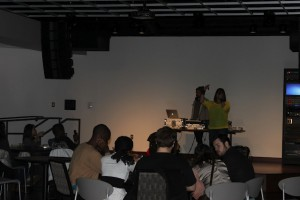 The Student Diversity and Inclusion Services Fun Night featured hip-hop spoken word artist, Desdamona, Friday, Feb. 3.