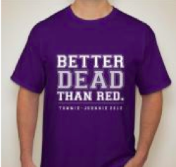 Senior Grace Vo sold this shirt this year for the Tommie-Johnnie game.  Many other students designed shirts, fanny packs, hats, sunglasses and more for kickoff on Sept. 15.