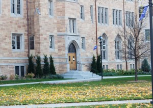 <p>The Homecoming beer tent will sit in a new spot in front of Aquinas Hall from its usual location on the J.P. Monahan Plaza. The new location will provide more space to accommodate the large Homecoming crowd. (Baihly Warfield/TommieMedia)</p>