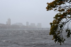 <p>Hurricane Sandy approaches Boston University around 2 p.m. Monday.  Superstorm Sandy has caused ten fatalities so far. (Photo courtesy of Phoebe Bowe) </p>