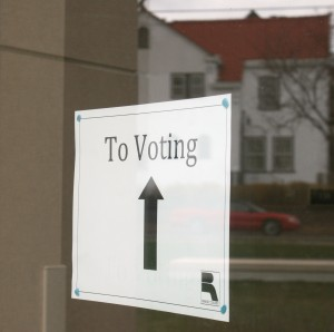 <p>McNeely Hall was one of 15 polling places in St. Paul's Ward 4. St. Thomas students who live on campus could vote in either McNeely or the Groveland Recreation Center, which is a half mile from campus. (Anastasia Straley/TommieMedia)</p>