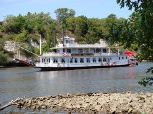 <p>The Jonathan Padelford authentic sternwheeler floats down the Mississippi River. Coleman said his planning group decided to book the river ride portion of the senior party through Padelford Riverboats, St. Paul. (Photo Courtesy of Padelford Riverboats)</p>