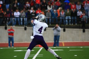 <p>Sophomore Fritz Waldvogel, the best return man in D-III, gave Monmouth fits as the wide receiver returned a first half kickoff 70 yards. (John Kruger/TommieMedia)</p>