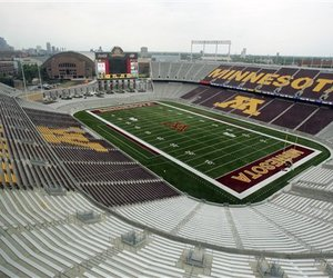 TCF Field is new and impressive but tropical climates for Division I football can be more appealing. (AP Photo/Jim Mone)