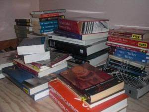 Books sold to the sophmores Joe Prescott and Ed are stacking up. (Ellie Galgano/TommieMedia)