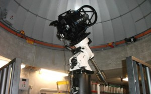 The Planewave CDK-17 telescope is operated remotely by computers in the observatory. (Miles Trump/TommieMedia)