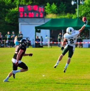 <p>After a stellar career with the Tommies, Waldvogel is enjoying his time on and off the field in Germany. (Courtesy of Sven Loeffler)</p>