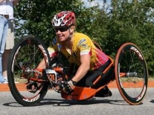 <p>Dutch paralympian Monique van der Vorst</p>
