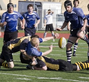 The Blue Ox Rugby Football club two years ago at the Macalester Cup. (Jordan Osterman/TommieMedia)