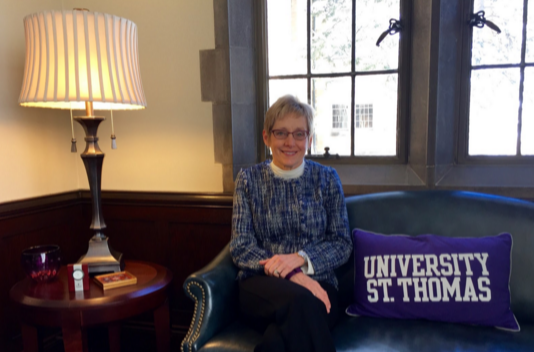 Throughout spring semester President Sullivan will continue to offer open office hours for students and faculty in the St. Thomas community. She started offering office hours last semester. (Emily Sweeney/TommieMedia)