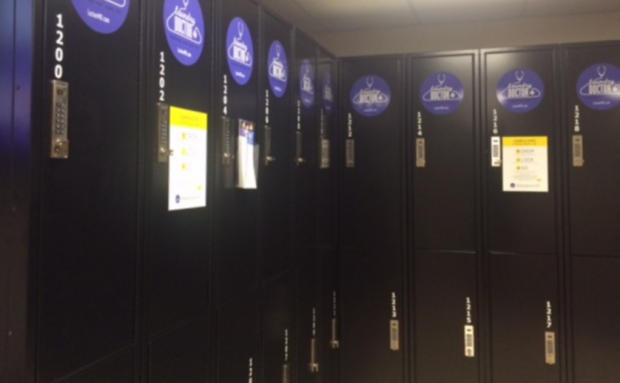 The Laundry Doctor lockers are located outside of Brady Hall, near Koch Commons. Residence Life introduced the on-demand laundry service at the beginning of the semester. (Sophie Carson/TommieMedia)