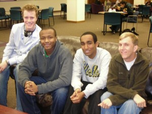 Students David Hackworthy, Kamal Mohamed, Petros Paulos and David Dahl (Katie Broadwell/TommieMedia)