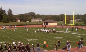 <p>The Tommies lead the Oles 28-0 in Northfield at the half</p>