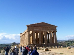 During their 11-day trip, the musicians did some sightseeing, including a stop at the Temple of Concordia at Agrigento. (Jon Dostal)