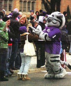 Tommie at the 2008 homecoming parade. (Grant Griebenow/The Aquin)