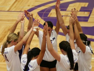<p>The volleyball team </p>