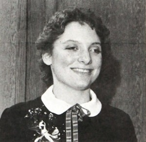 Rachel Wobschall was the first female Tommy Award winner, and now works at St. Thomas as the executive director of alumni and constituent relations.  (The Aquin/1981)