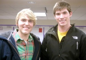 Michael Ed and Joe Prescott have nearly 400 Facebook fans for their student-run book buyback. (Pauleen Le/TommieMedia)
