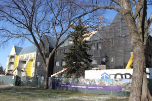 <p>After six months of construction, Anderson Student Center sees steady progress. (Cynthia Johnson/TommieMedia)</p>