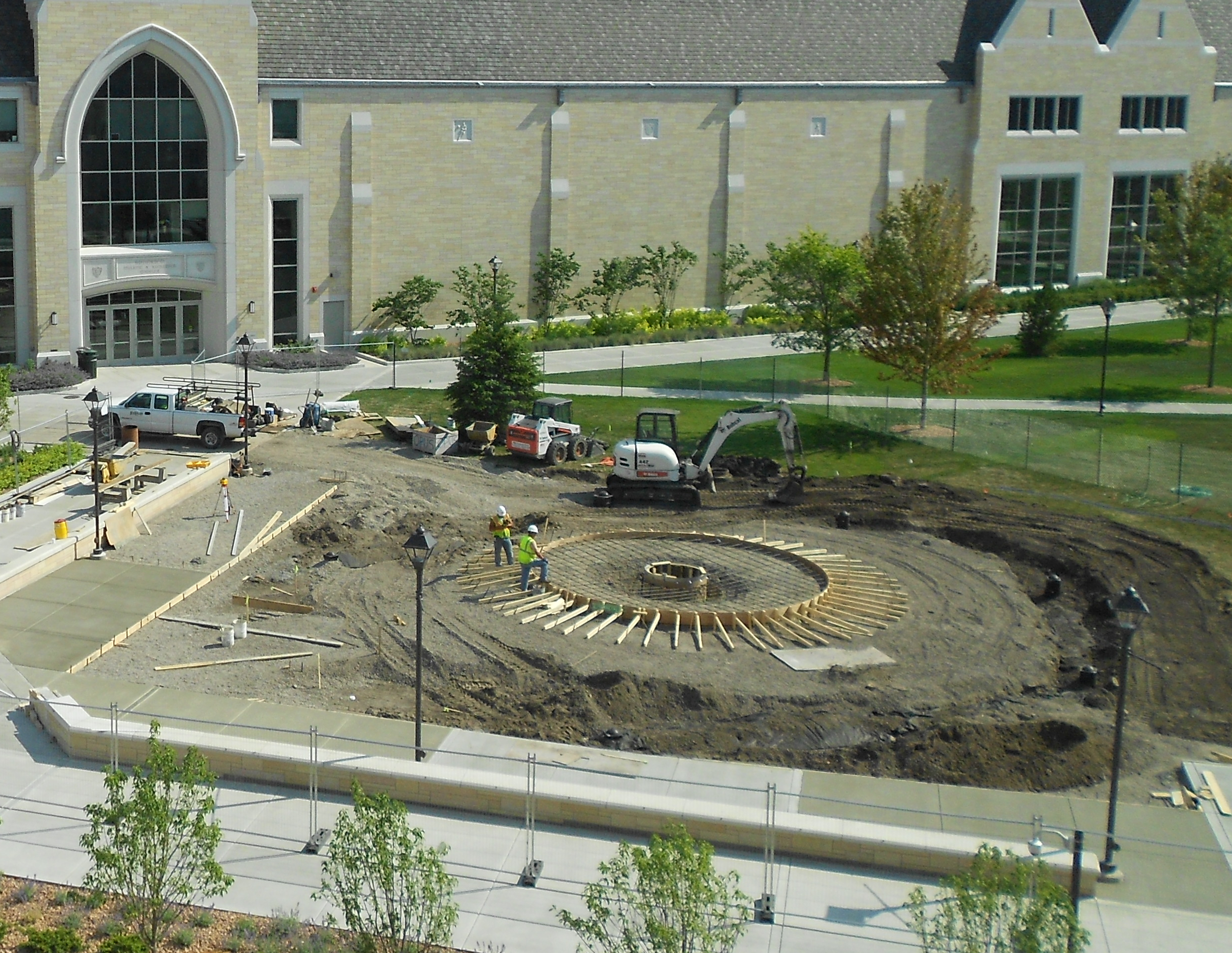 Construction on the new water feature is set to be completed by the end of July. (Caroline Rode/TommieMedia)
