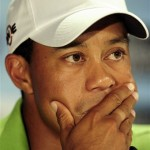<p>Tiger Woods plans to talk Friday but not take any questions. (AP Photo/Andrew Brownbill)</p>
