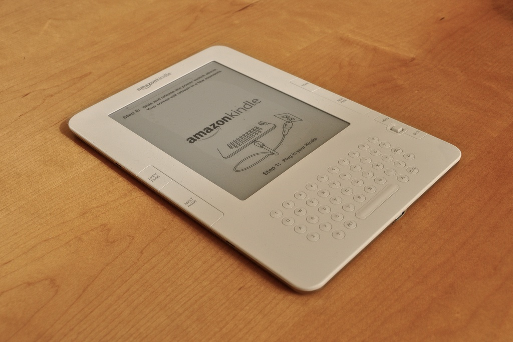 The O'Shaughnessy-Frey Library has eight Amazon Kindles for students to rent. (jblyberg/Creative Commons)