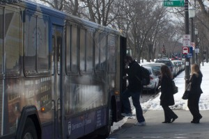 <p>Undergraduate Student Government is working with Double Map Technology on an app that allows students to know exactly where the shuttles are at all times. (Nick McAndrews/TommieMedia)</p>