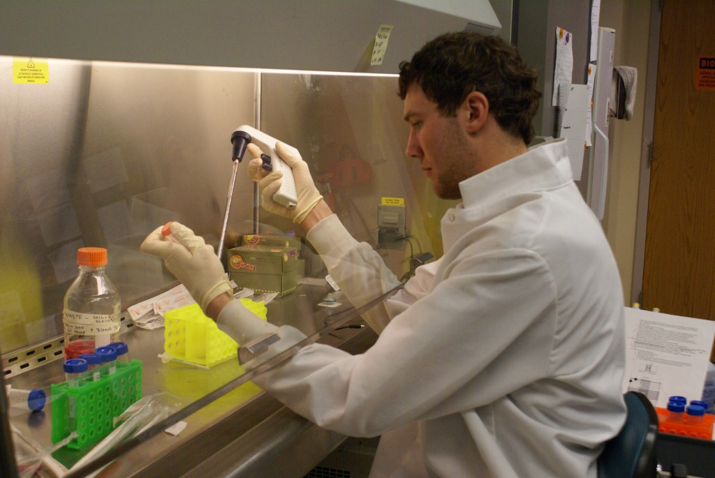 <p>Junior Tyler Firkus is one of the students who is working on a summer research project. He will be studying the effects of estrogen on fish populations in the St. Croix River.</p>