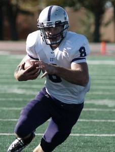 <p>Ben Wartman kept the Tommies balanced in the running game with 78 total yards and a touchdown run. (John Kruger/TommieMedia) </p>